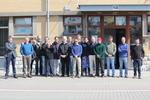 Deelnemers aan de European Tracking Network (ETN) kick-off workshop in Oostende; van links naar rechts: F. Hernández, A. Walker, E. Thorstadt, K. Aarestrup, P. Afonso, L. Bajona, J. Alós, F. Whoriskey, D. Abecasis, N. Humphries, J. Reubens, B. Koeck, P. Boylan, C. Meyer, A. Steckenreuter, F. Badalamenti, K. Deneudt.