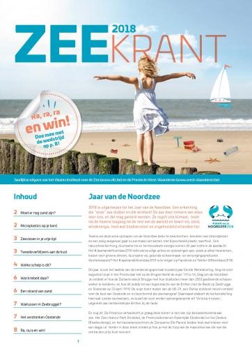 Zeekrant 2018: jaarlijkse uitgave van het Vlaams Instituut voor de Zee en de Provincie West-Vlaanderen
