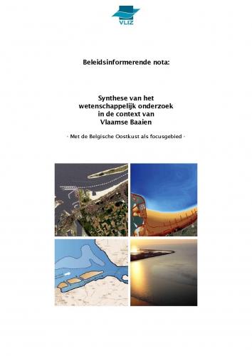 Beleidsinformerende nota: Synthese van het wetenschappelijk onderzoek in de context van Vlaamse Baaien – Met de Belgische Oostkust als focusgebied