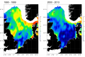 Trends in abundance of fish species in the North Sea