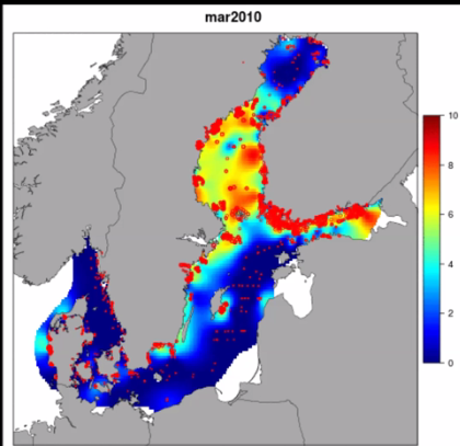 Temporal trend of invasive species Marenzelleria in the Baltic Sea