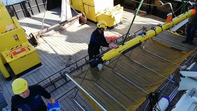 Lancering AUV Barabas - voorbereiding