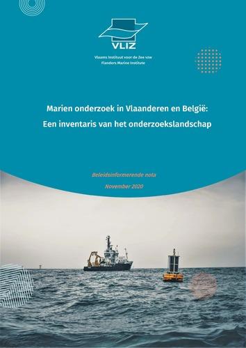 Marien onderzoek in Vlaanderen en België: een inventaris van het onderzoekslandschap