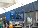 ROV and blue container