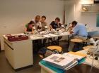 """De """"Bryozoa-ploeg"""" in actie. De Panne, 31-05-2008"""