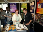 Roisin Nash and Louis Boumans at our info stand at the e-Biosphere in London, author: Appeltans, Ward