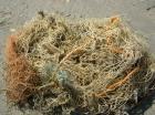 losgeslagen strandvissersnet