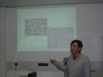 Francisco Arenas presents the group results