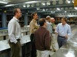 Picture of visiting the collections at NHM