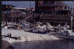 Eutrofi�ringsverschijnelen - Schuim in Jachtclub Oostende bij spuien water Spuikom (25 04 1992)