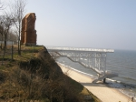 Protection of cliffs against erosion by geotextile and gabion structures