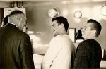 """Originele beschrijving foto: """"aan boord cdt. Fourcault (1965)"""" Aanvullingen en opmerkingen meer dan welkom!"""