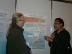 Picture of poster session with Daniel Pauly at the right