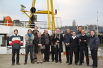 2011.02.07 UGent-delegatie aan boord Zeeleeuw