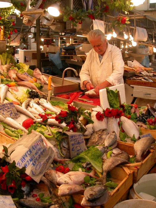 Fish market of Athens