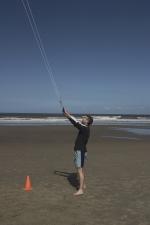 Kites flying