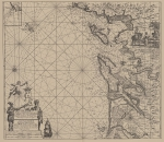 <B>Voogt, C.J.; van Keulen, J.</B> (1728). De Nieuwe Groote Lichtende Zee-Fakkel, 't tweede deel. Verthoonende de Zee-Kusten van het Zuyderste gedeelte van de Noord-Zee, 't Canaal, 't Westerse gedeelte van Engeland, Schotland, Yrland, Vrankryk, Spanjen, M