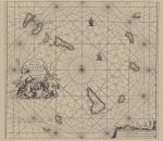 Voogt, C.J.; van Keulen, J. (1728). De Nieuwe Groote Lichtende Zee-Fakkel, 't tweede deel. Verthoonende de Zee-Kusten van het Zuyderste gedeelte van de Noord-Zee, 't Canaal, 't Westerse gedeelte van Engeland, Schotland, Yrland, Vrankryk, Spanjen, M