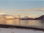 Balsfjorden; looking east towards Storvasstind and Piggtind mountains.