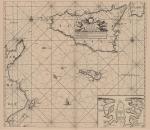 Voogt, C.J.; van Keulen, G. (1728). De Nieuwe Groote Ligtende Zee-Fakkel, 't derde deel. Vertoonende de Kusten van Granada, Catalonien, Provence, Italien, Dalmatien, Grieken, Thracien, Natolien, Syrien, Egypten, en de geheele Noordkust van Barbarye