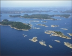 Aerial photo of Archipelago Sea.