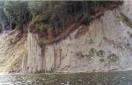 The steep shores of Bay at Oslonino.