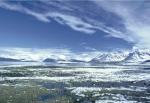The inner part of Kongsfjorden, Svalbard, viewed from the settlement of Ny Ålesund.