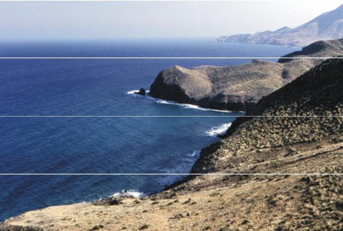 Panorama of Cabo de Gata.