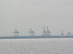 zicht op haven Zeebrugge