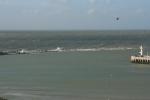 Kop oude en nieuwe westdam Oostende