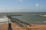 Werken aan nieuwe westdam Oostende