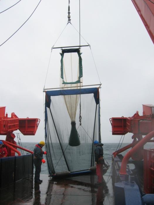 RMT1+8 plankton net on deck