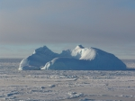 Iceberg in the central Lazarev Sea in April 2004