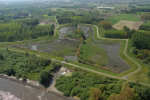 Flood control area (Lippenbroek) along the Scheldt river