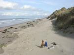 Afval op strand