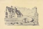 Tekening van de oesterput die in 1922 aangelegd werd door de familie Halewyck op de linkeroever van de IJzer te Nieuwpoort