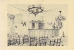 Tekening van het restaurant bij de Nieuwpoortse oesterkwekerij die in 1922 opgericht werd door de familie Halewyck