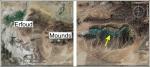 google earth image of the Kess-Kess mounds, author: Google Earth
