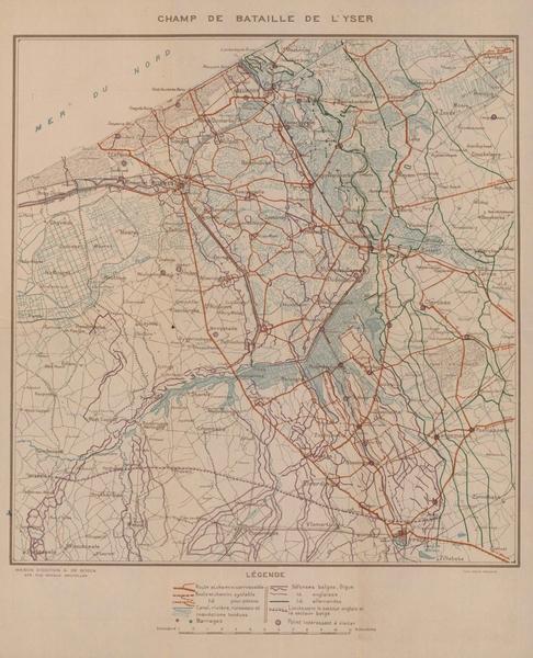 Champ de Bataille de l'Yser. (1914)