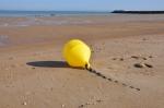 Boei op strand