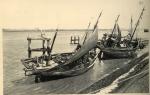 Houten vissersschepen