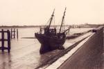 Schip op kuisbank Nieuwpoort
