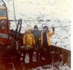 3 vissers op het dek van de N.761