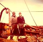 Vissers aan boord van de N.732 O.L.V Van Vlaanderen (Bouwjaar 1934)