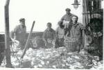 Familie Beyen met vangst
