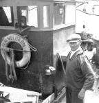 Gustaaf Verbrugh op de O.46 'tZal Wel Gaan  (bouwjaar 1943)