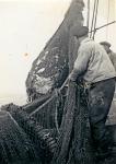 Visser met vangst