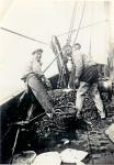 Vissers met vangst