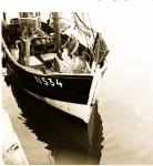 Visser aan boord van de N.534 Emilienne (Bouwjaar 1942)