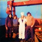 Bemanning, waaronder kok, aan boord